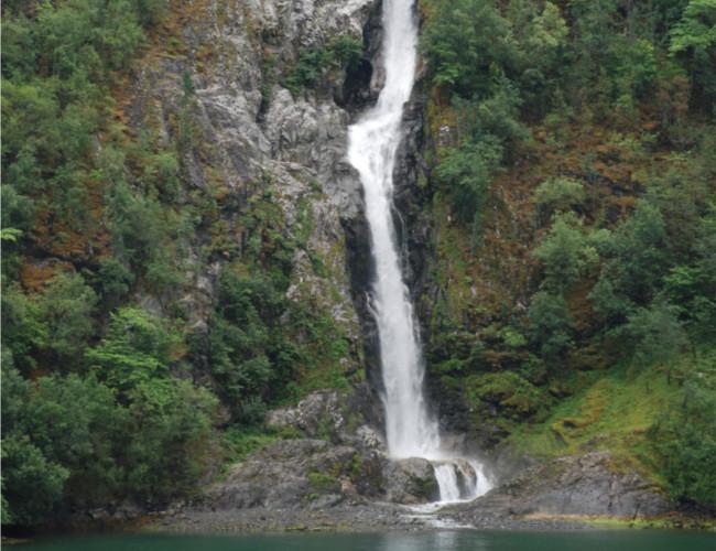 Kjosfossen waterfall in Norway. Image Credit: Kate Morfoot.