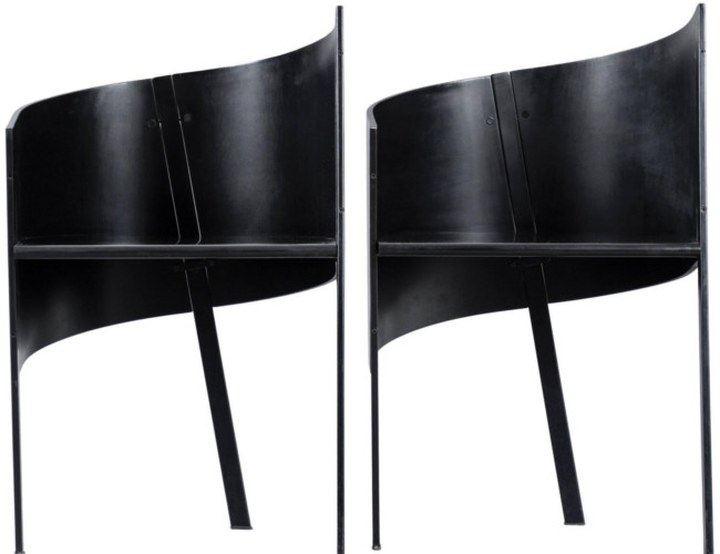 The unique and quirky Paolo Pallucco Pair of Occasional Chairs at Converso via 1stDibs.