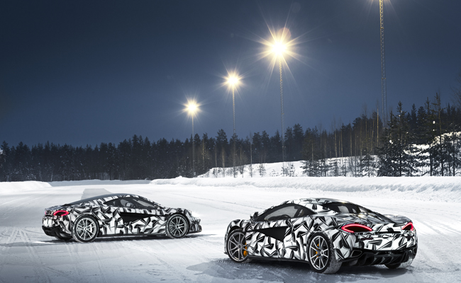 Experience the thrill of ice driving with the Pure McLaren package.