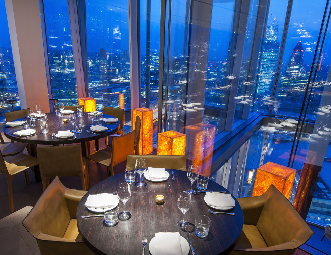 Restaurant review oblix at the shard london bridge in for Restaurants at the shard