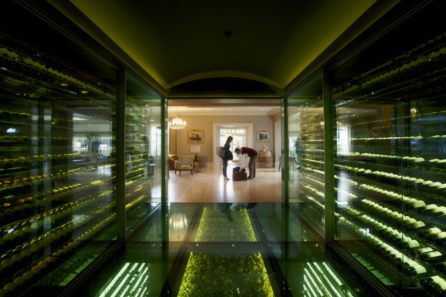 wine vault at the vineyard hotel in newbury berkshire
