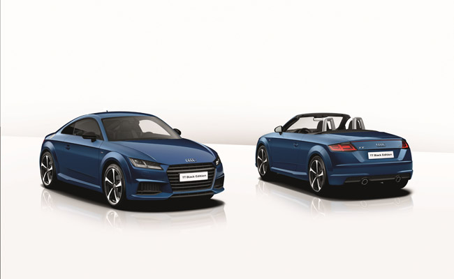 One of the models to receive the new black package are the TT and TT roadster models.
