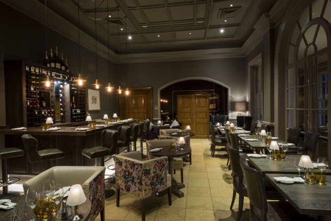 2 AA Rosette Squires Restaurant provides a completely modern dining experience