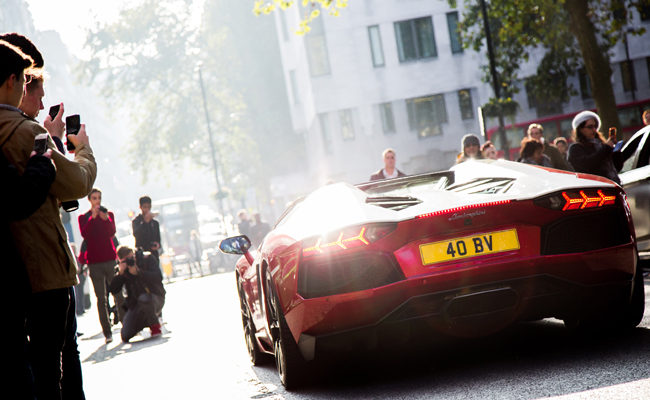 Supercars invaded Mayfair with H.R Owen.