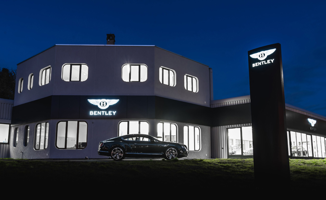 The new retail partner also offers pre-owned vehicles, aftersales service and the company's branded luxury goods.