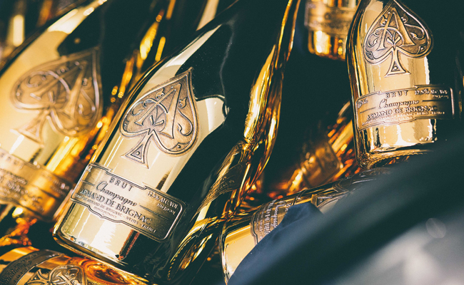 Over £30,000 worth of champagne filled the boots of the purchased Ghost Black Badge and the Wraith, and as Champagne Armand de Brignac is widely regarded as the 'Rolls-Royce of champagne', it was a fitting union.