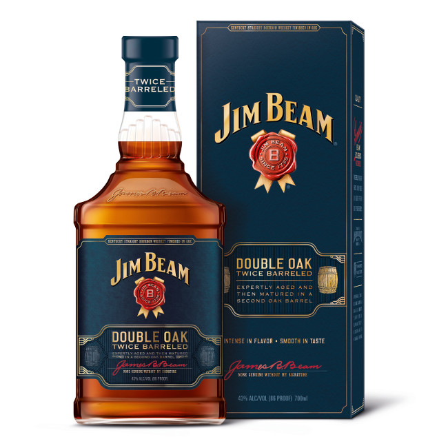 Jim Beam Double Barreled Bourbon Whiskey (70cl)