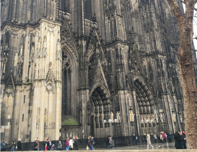 A view of one of Cologne's most notable landmarks, the Cologne Cathedral.