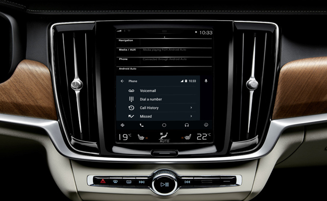 In addition to the Apple CarPlay, Volvo have unveiled developments to their in-car technology and the use of Android devices.
