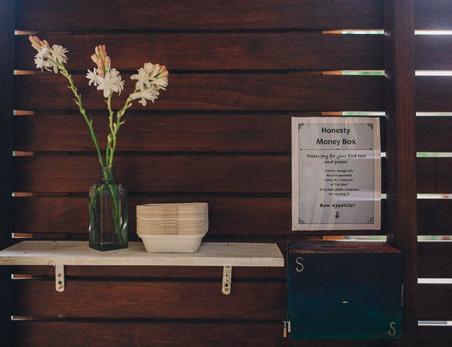 The honesty box (photo: Krishna Village)