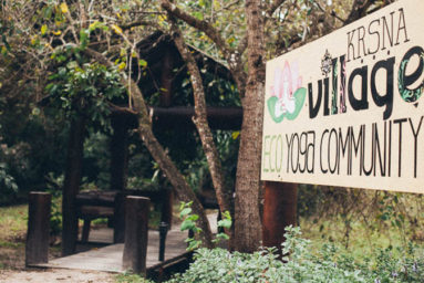 Krishna Village sign (photo: Krishna Village)