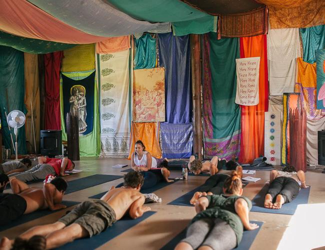 Krishna yoga class (photo: Krishna Village)