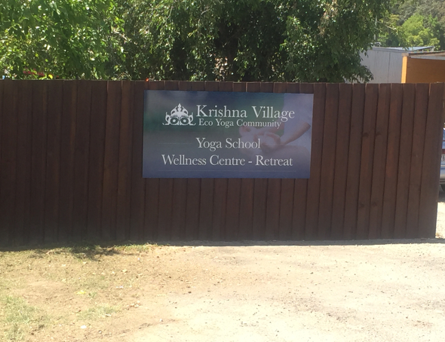 Krishna Village sign