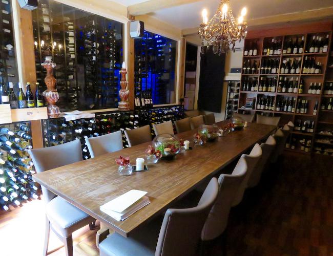 Lake House Daylesford wine cellar
