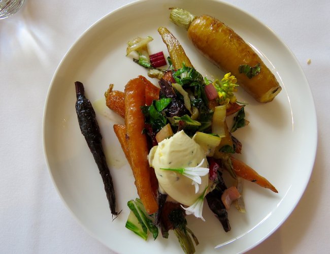 Lake House Daylesford restaurant vegetable dish