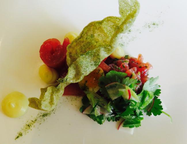 Lake House Daylesford restaurant tuna dish