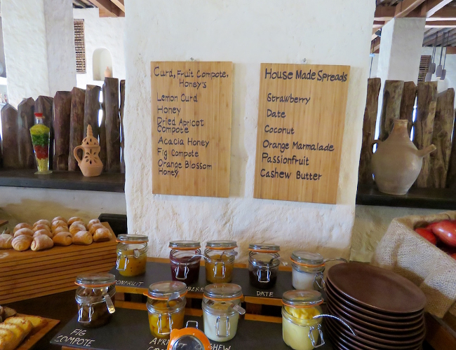 Six Senses Zighy Bay breakfast
