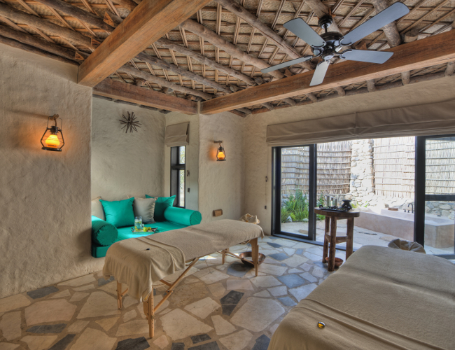 Six Senses Zighy Bay spa room