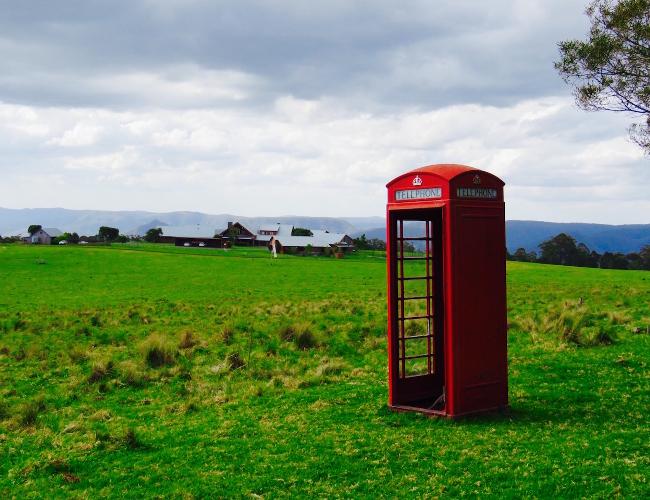 Spicers peak Lodge phone booth