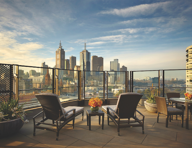Langham Melbourne terrace room (photo: Langham Melbourne)