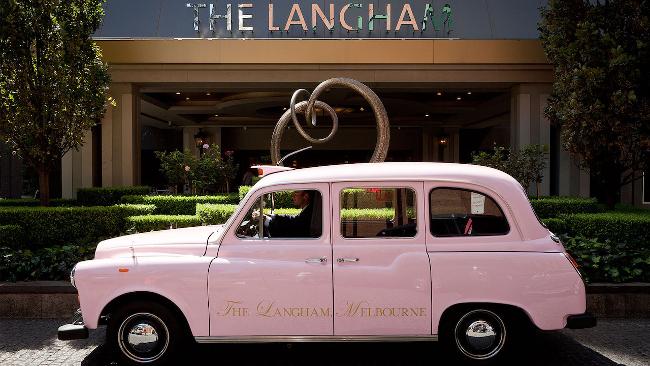 Langham Melbourne pink taxi (photo: Langham Melbourne)