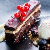 Chocolate ganache at The Mint Room, Bath