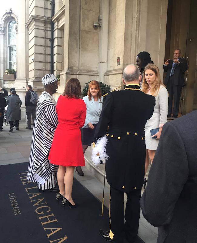 Langham London Fergie and Princess Beatrice