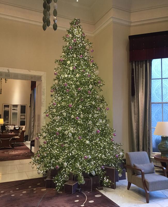 Langham London Lobby Christmas Tree