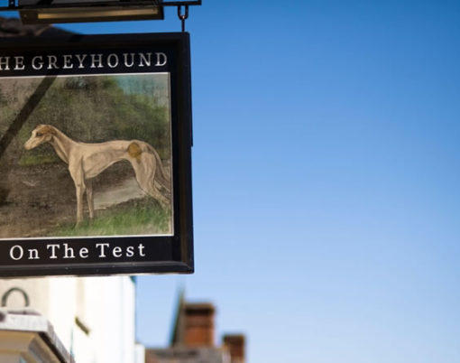 The Greyhound on The Test, Stockbridge in Hampshire