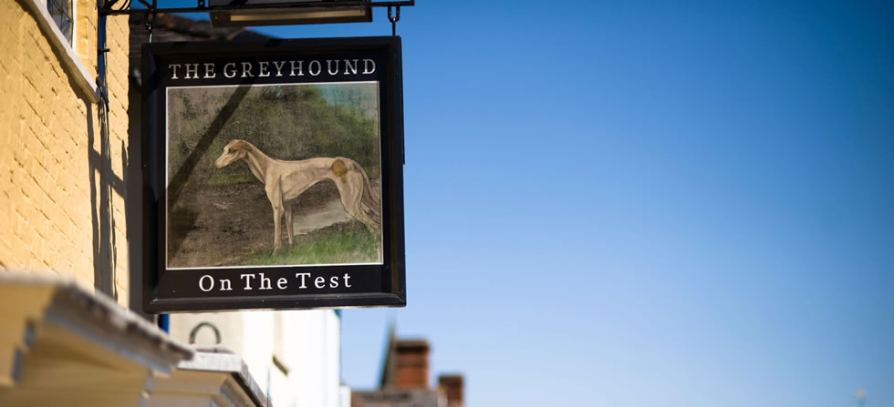 The Greyhound on The Test, Stockbridge in Hampshire