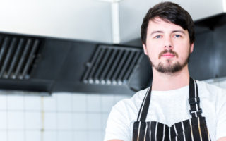 Head Chef Jerry Adam at Swan at Hay Hotel 2017 kitchen