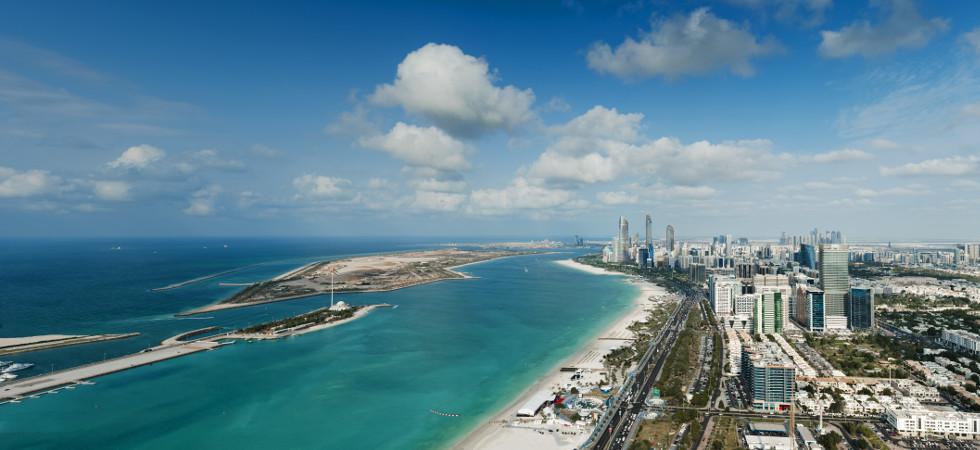 Abu Dhabi Aerial view Corniche