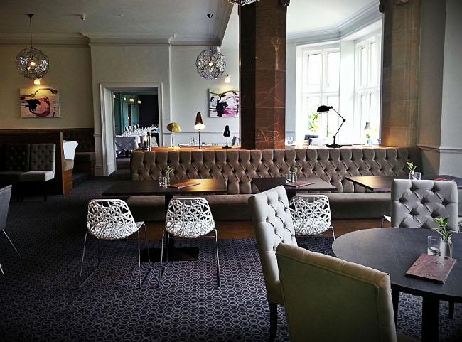 The restaurant at The Alverton Hotel, Truro