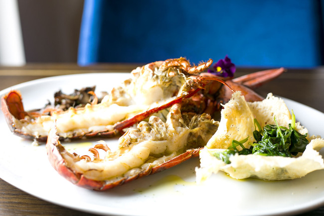 As the name suggests, Blue Lobster specialise in lobster and seafood dishes