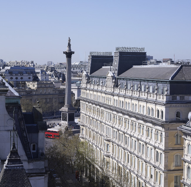 View to Trafalgar square Corinthia Hotel London