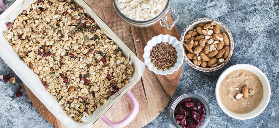 cranberry & pumpkin seed flapjacks