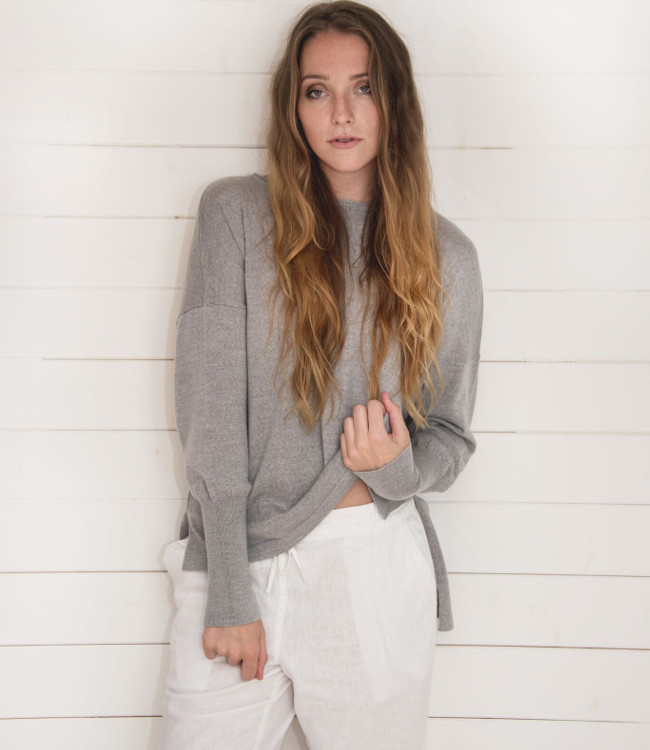 Flock by Nature-Eloise Sweater Grey