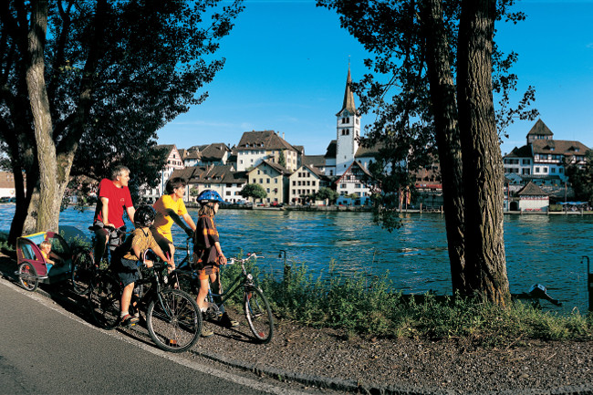 Cycling beside the Rhine en route to Basel