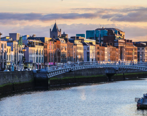 City Centre on River Liffey
