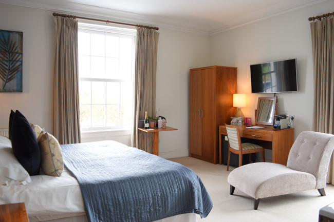 Fishmore Hall bedroom