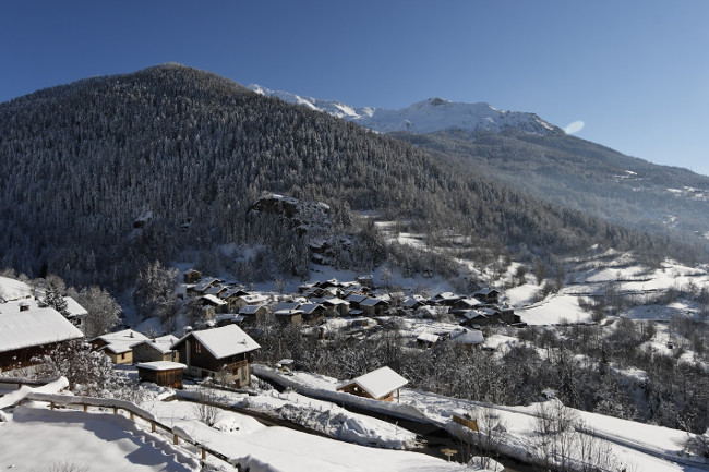 The view from the balcony of Chalet Merlo.
