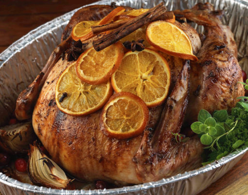 Christmas Roast Turkey with Orange and Spices Recipe