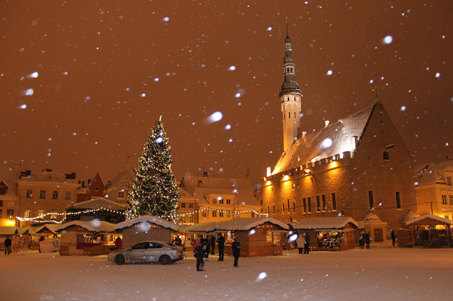 The world famous Tallinn Christmas Market