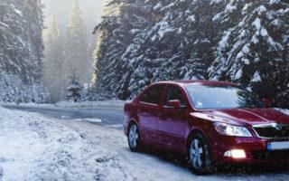 car winter snow