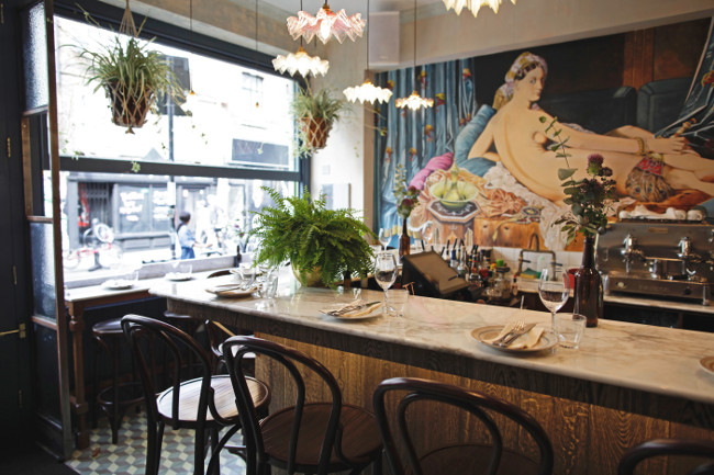 Restaurant review blanchette east 204 brick lane in for Cafe le jardin bell lane london