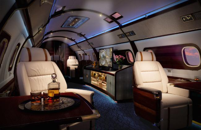 The Skyacht interior