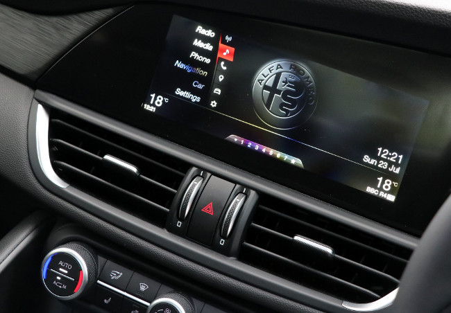 "<img src=""https://www.luxurylifestylemag.co.uk/wp-content/uploads/2018/01/Alfa-Romeo-Giulia-Super-180-57.jpg"" alt=""Alfa Romeo Giulia Super 2.2 180"" width=""650"" height=""433"" class=""aligncenter size-full wp-image-33613"" />"