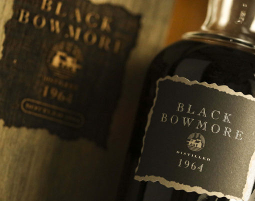 30 year old bottle of second edition Black Bowmore single malt whisky