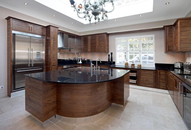 Walnut Front framed kitchen High Res