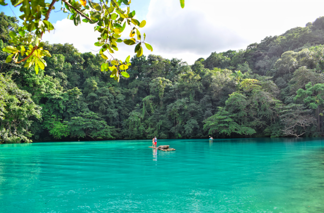 The turquoise waters of Jamaica's Blue Lagoon